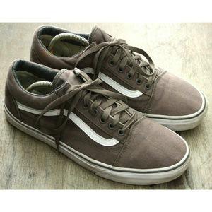 Vans Mens Old Skool Gray Sneakers Size 11.5